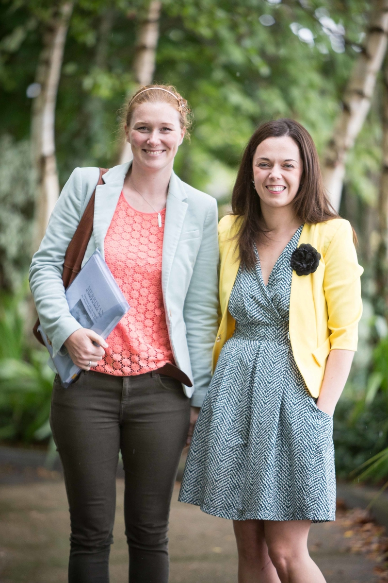 Méadhbh Nic an Aircinnigh and Sarahanne Buckley at the Merriman Summer School 2014 at Glor, Ennis, Co Clare on Thursday. Photograph by Eamon Ward (Further info from :Doireann Ní Bhriain Press & PR Merriman Summer School 2014  087 2434814 )