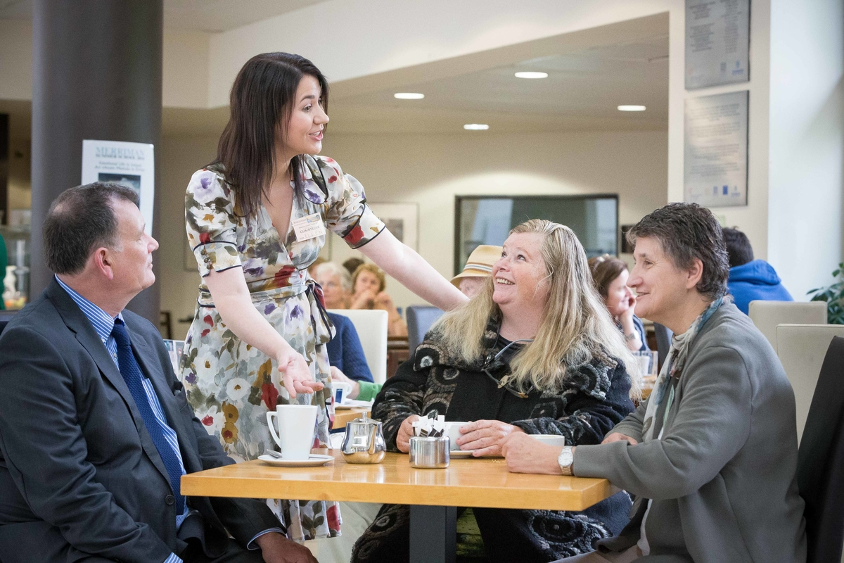 **NO REPRO FEE** Guest Speakers Carlo Gebler, Writer, Ellen McWilliams,University of Exeter,Nuala Ní Dhomhnaill,Poet and Prof Patricia Coughlan, Merriman Director during a break at the Merriman Summer School 2014 at Glor, Ennis, Co Clare on Thursday. Photograph by Eamon Ward (Further info from :Doireann Ní Bhriain Press & PR Merriman Summer School 2014  087 2434814 )
